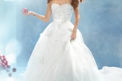 Hófehérke menyasszonyi ruhája