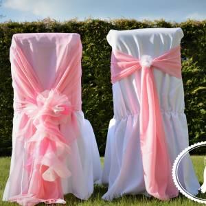 Rózsaszín fodros szertartás szék